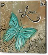 Live And Love Butterfly By Madart Canvas Print