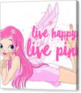 Live Happy Test Canvas Print