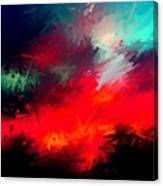 Splashing Colors Of What I Seen Canvas Print