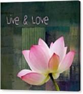 Live N Love - - 0333-15a Canvas Print