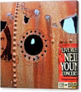 Live Rust, Neil Young Canvas Print