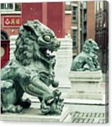 Liverpool Chinatown - Chinese Lion D Canvas Print