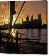 Liverpool, England View From Albert Dock Canvas Print