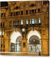 Liverpool Exchange Railway Station By Night Canvas Print