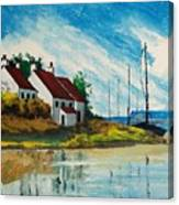 Living At The Mouth Of The White Oak River Canvas Print