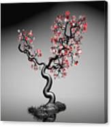 Geometric Tree In Water 1 Canvas Print