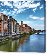 Living Next To The Arno River Canvas Print
