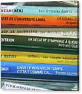 Livres ... Canvas Print
