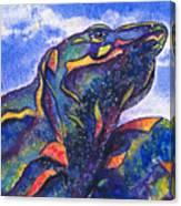 Lizard In The Desert 2 Canvas Print