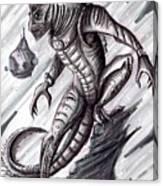 Lizard Warrior Canvas Print