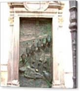Ljubljana Bronze Church Door Canvas Print