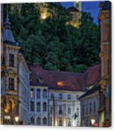 Ljubljana Night Scene - Slovenia Canvas Print