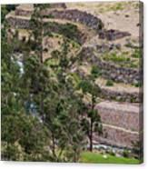llactapata Site and Urubamba River Canvas Print