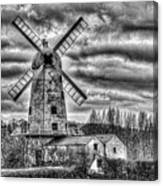 Llancayo Mill Usk 3 Mono Canvas Print