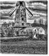 Llancayo Mill Usk 4 Mono Canvas Print