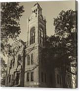Llano County Courthouse - Vintage Canvas Print