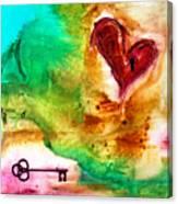 Llave Para El Corazon Canvas Print