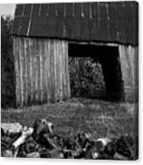 lloyd-shanks-barn-2BW Canvas Print