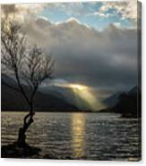 Llyn Padarn Sunrays Canvas Print