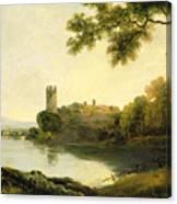 Llyn Peris And Dolbadarn Castle, North Wales Canvas Print