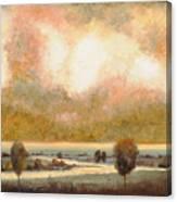 Lo Stagno Sotto Al Cielo Canvas Print