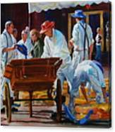 Loading The Cart Canvas Print