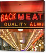 Loback Meat Co Neon Canvas Print