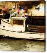 Lobster Boat Stonington Ct Canvas Print