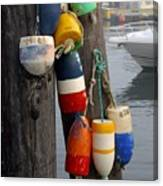 Lobster Buoy At Water Taxi Pier Canvas Print