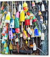 Lobster Buoys And Nets - Maine Canvas Print