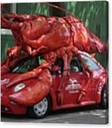 Lobster Car Canvas Print