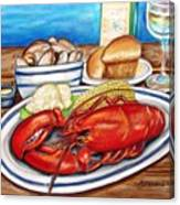 Lobster Dinner Canvas Print