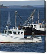 Lobster Fishing Boats Canvas Print