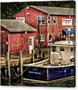 Lobster Market In Boothbay Harbor Canvas Print