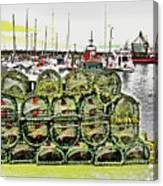 Lobster Pots Kilmore Quay, Wexford, Ireland Poster Effect 1b Canvas Print