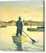 Lobsterman Homebound Canvas Print