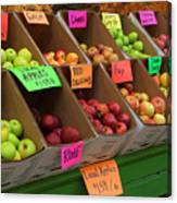 Local Apples For Sale Canvas Print