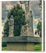 Local Cemetery Statue Canvas Print