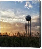 Local Water Tower  Canvas Print