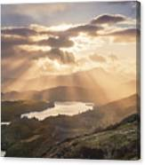 Loch Ard Sunburst 1 Canvas Print