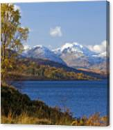 Loch Katrine And The Arrochar Alps Canvas Print