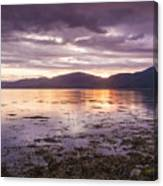 Loch Linnhe - The Last Rays Of The Sun. Canvas Print