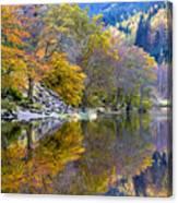 Loch Lubnaig In Autumn Canvas Print