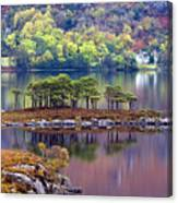 Loch Maree In Autumn Canvas Print