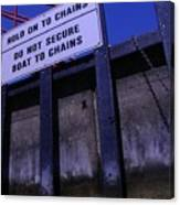Lock And Chains Canvas Print