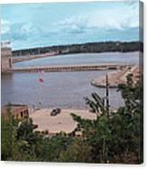 Lock And Dam 19 Canvas Print