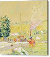 Lock At Sannois Canvas Print