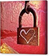 Lock/heart Canvas Print