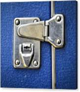 Lock On A Blue Suitcase Canvas Print