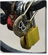 Lock With Rhinestones Canvas Print